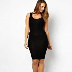 ASOS | Black Stretchy Dress Size 8